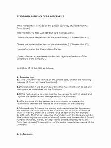 shareholder agreement 5 free templates in pdf word With shareholder agreements template
