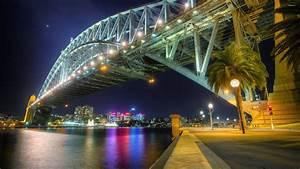 Sydney Harbour Bridge at night wallpaper - World ...