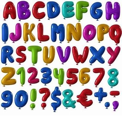 Balloon Alphabet Font Fonts Clipart Letters Happy