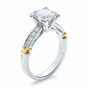 yellow gold engagement rings two tone white and yellow With wedding rings two tone gold