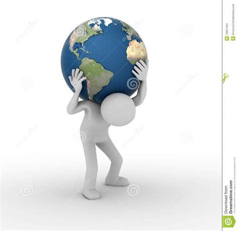 en portant le monde aimez l atlas illustration stock image 12621454