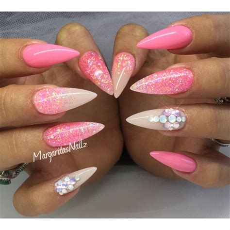 Pink Stiletto Nails - Nail Art Gallery