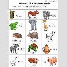 Animals Fill In  Welcome To Children World Of English