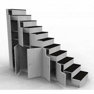 Escalier Sur Mesure Prix : meuble escalier pour mezzanine avec rangements sur mesure ~ Edinachiropracticcenter.com Idées de Décoration