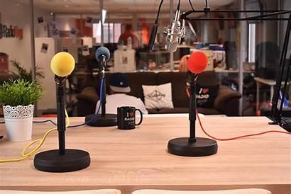 Radio Station Podcast Broadcast Studio Presenters Multiple