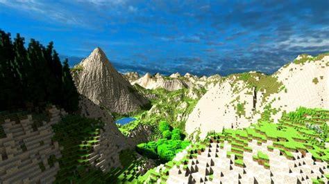 realistic desert  mountain terrain minecraft building