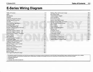 2015 Ford Econoline Wiring Diagram Manual Original Van E