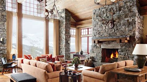 rustic  modern montana ski house  michael  smith