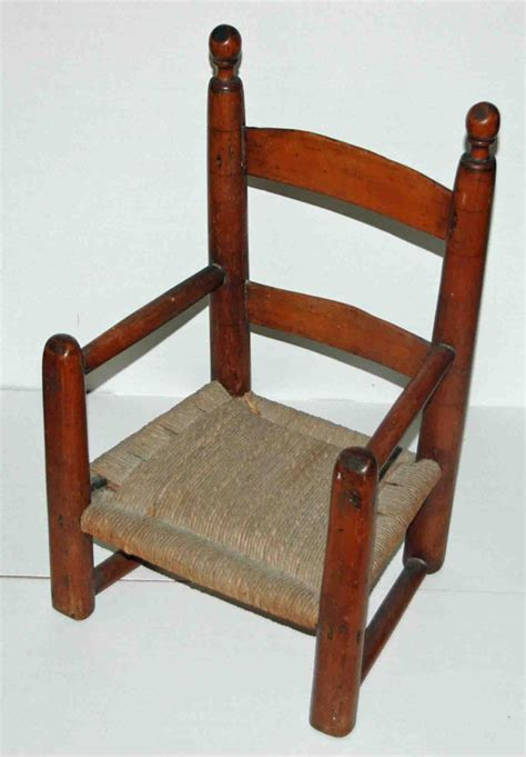 antique child s slat ladder back arm chair late 18th early