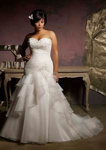 plus size wedding dress with mermaid style sangmaestro With plus size mermaid wedding dresses