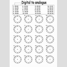 Digital To Analogue Times Worksheet By Lcdixon88  Teaching Resources