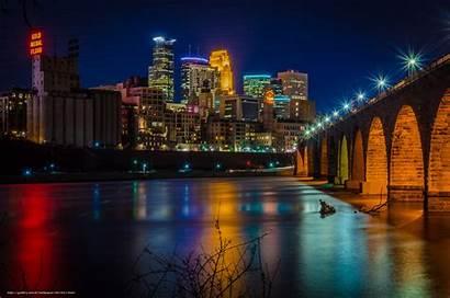 Minnesota Minneapolis Desktop Wallpapers Night Usa Services