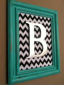 Picture Frame with Initial Letter