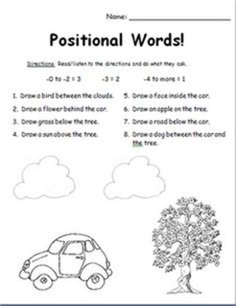 1000 about positional words on words