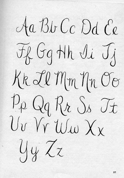 alfabeto letra cursiva caligraf 237 a pinterest alphabet