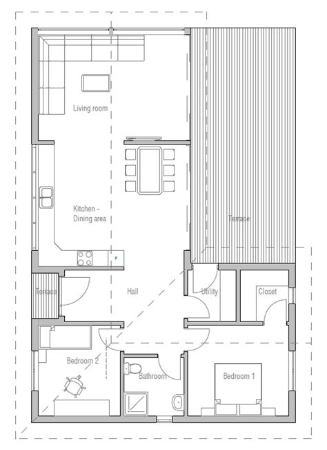 efficient small home plans small house plan with efficient room planning house plan