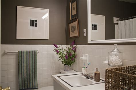 simple inexpensive bathroom makeover  renters