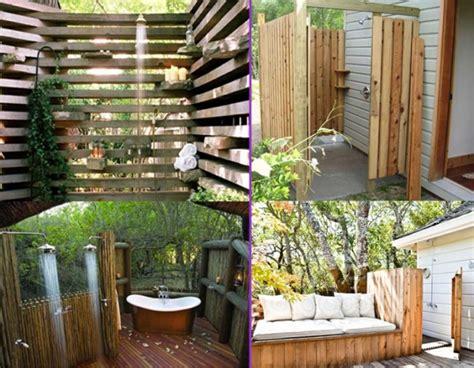 cool outdoor shower designs