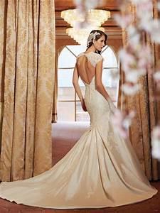 impressive backless lace designed bridal dress weddings eve With lace backless wedding dress