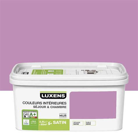 peinture chambre mauve et blanc peinture violet tulipe 5 luxens couleurs intérieures 2 5 l