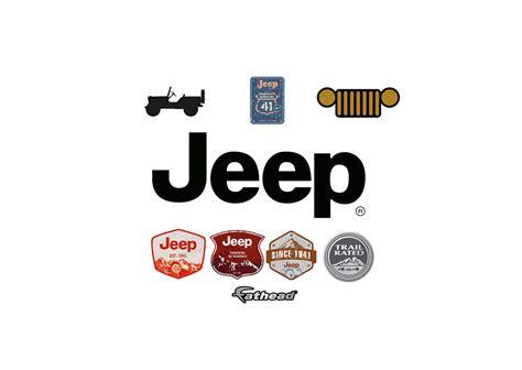 jeep life logo jeep logo wall decal shop fathead for chrysler decor