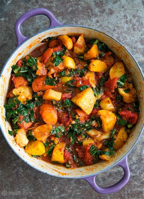 Roasted Root Vegetable Stew With Tomatoes And Kale Recipe