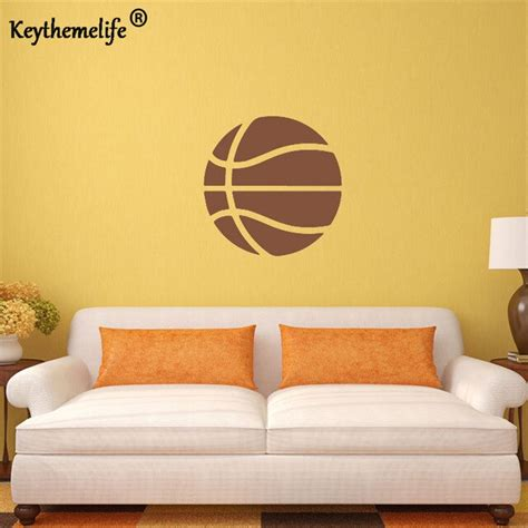 These basketball themed house and bedroom products and decorative ideas over the years the team at ball till we fall have researched thousands of basketball equipment products and during that time encountered. Keythemelife Kids Rooms Decor Basketball Wall Sticker For Your Room Vinyl Wall Art Decals F-in ...