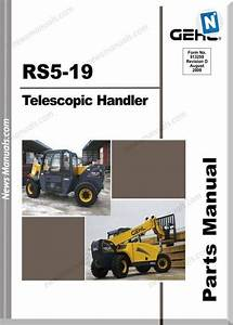 Gehl Rs5 19 Telescopic Handler Parts Manual 913259d