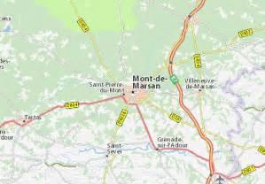 mont de marsan carte carte d 233 taill 233 e mont de marsan plan mont de marsan viamichelin