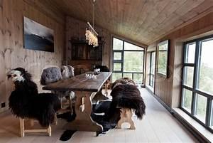 Traditionall norwegian house interior Stock Photo