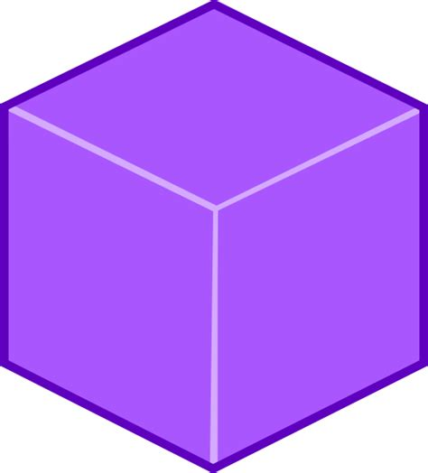 Cube Clipart Purple 3d Cube Clip At Clker Vector Clip