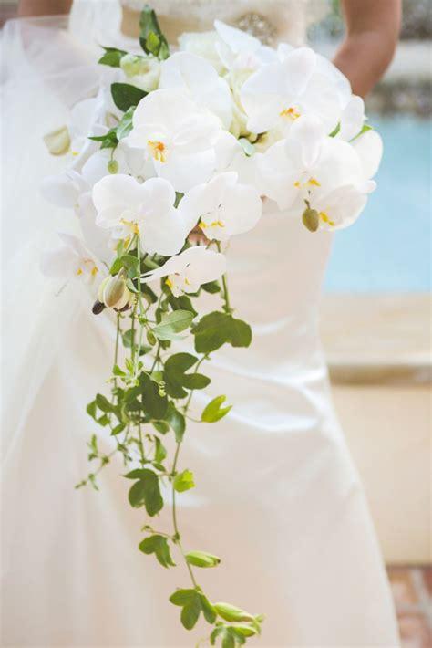 super elegant cascading bridal bouquet of white