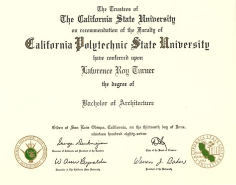 Bachelor Of Architecture From California Polytechnic State