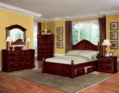 Dark Cherry Finish Traditional Kids Bedroom Woptional
