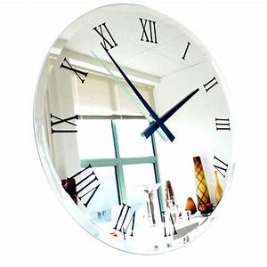 Compact Wall Clock Mirror 78 Decorative Mirror Wall Clock