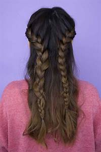Half Up Half Down Braid How To Create 2 Completely