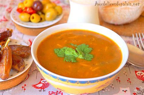 cuisine marocaine harira recettes ramadan 2018 plat soupe aux délices du palais