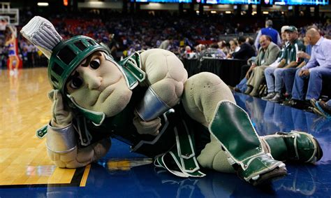 sparty sparty  state farm champions classic zimbio