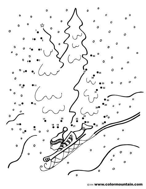 winter dot activity coloring sheet create  printout