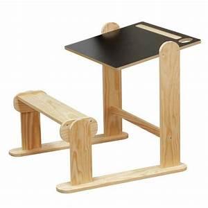 Bureau Enfant En Bois : pupitre en bois jb bois ~ Teatrodelosmanantiales.com Idées de Décoration