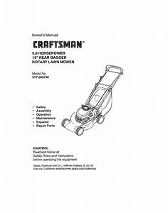 Craftsman Lawn Mower 917 38919 User Guide