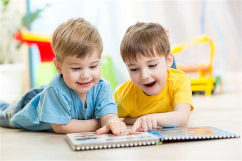 happy kids friends reading together safari kids learning