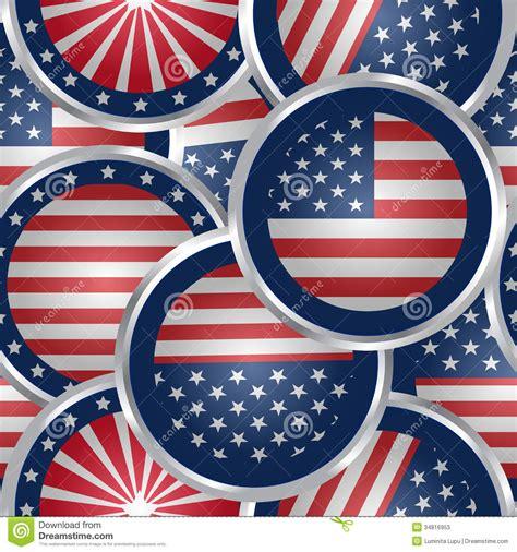 fond sans couture avec des boutons de drapeau americain