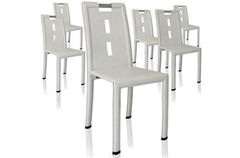 lot 4 chaises blanches lot de 4 chaises design blanches grazia chaise design pas cher