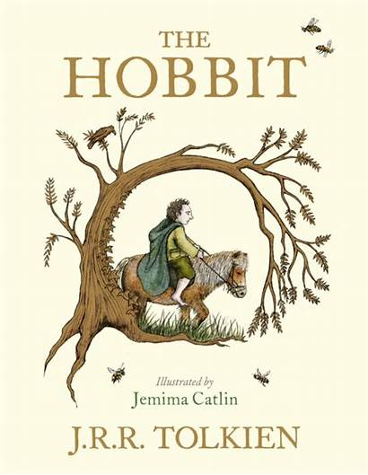 Hobbit Illustrated Tolkien Colour Paperback Books Fre