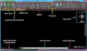 First Look at Autocad Interface CADucation com