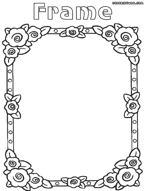 picture to coloring page picture frame coloring page coloring home
