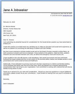 Cover letter social work examples creative resume design for Cover letters that work