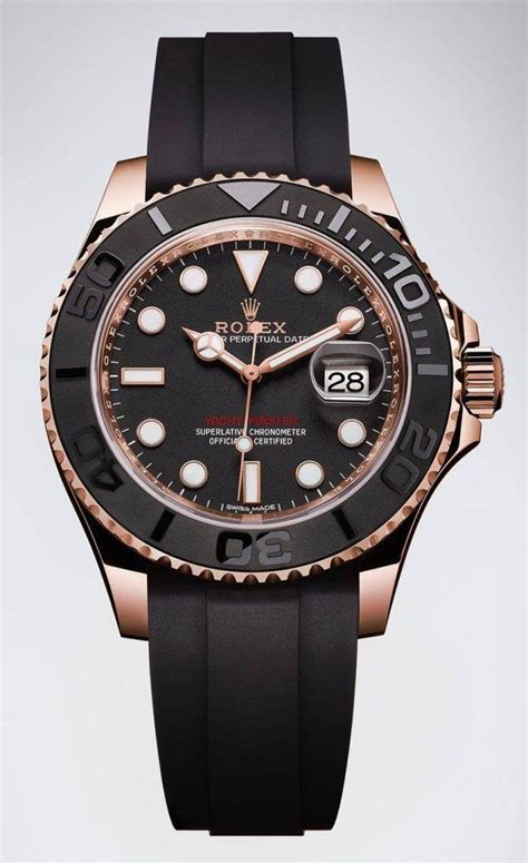 Rolex Yacht-Master 116655 Watch In Everose Gold With Black ...