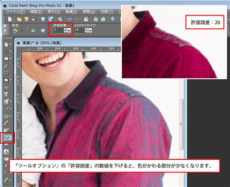 カラーチェンジャー ツールで クリックした場所の色を変更する方法 初心者でもできる paint shop pro